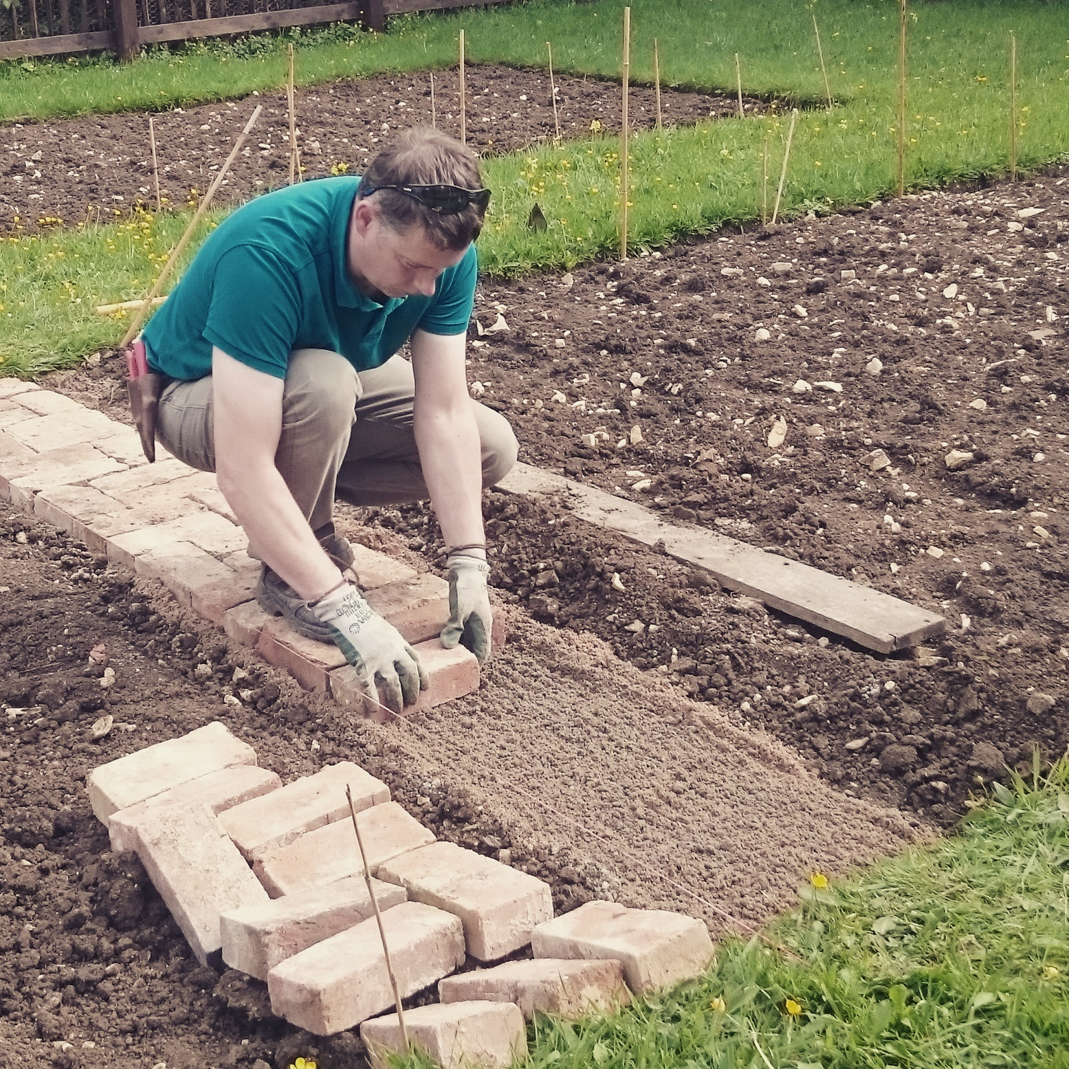 laying a brick path