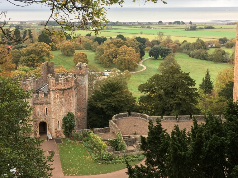 Tenants Hall and the Parkland at Dunster Castle.