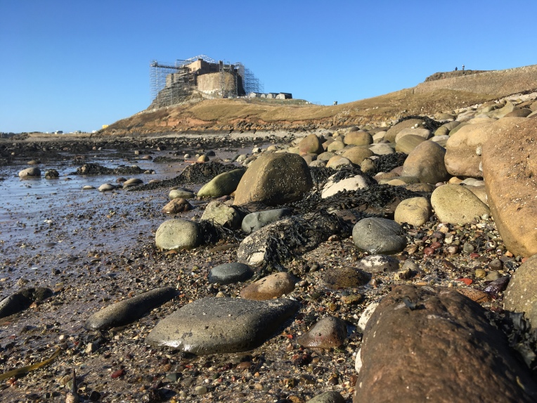 Beach Pebbles near Lindisfarne Castle