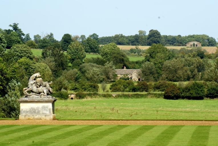 Lion Attacking Horse Statue at Rousham