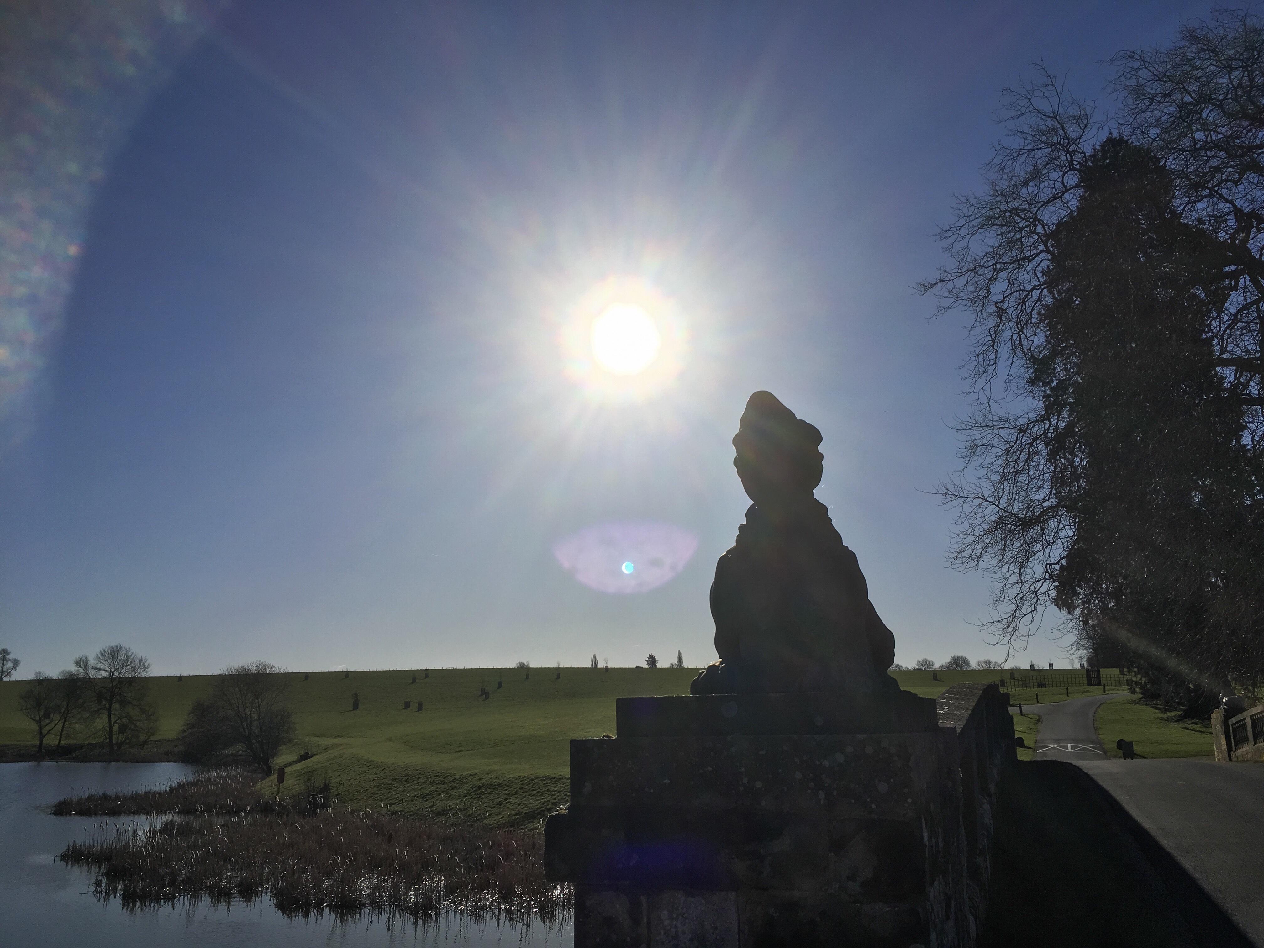 April sunshine over the Sphinx bridge at Compton Verney, ©️Gary Webb 2018