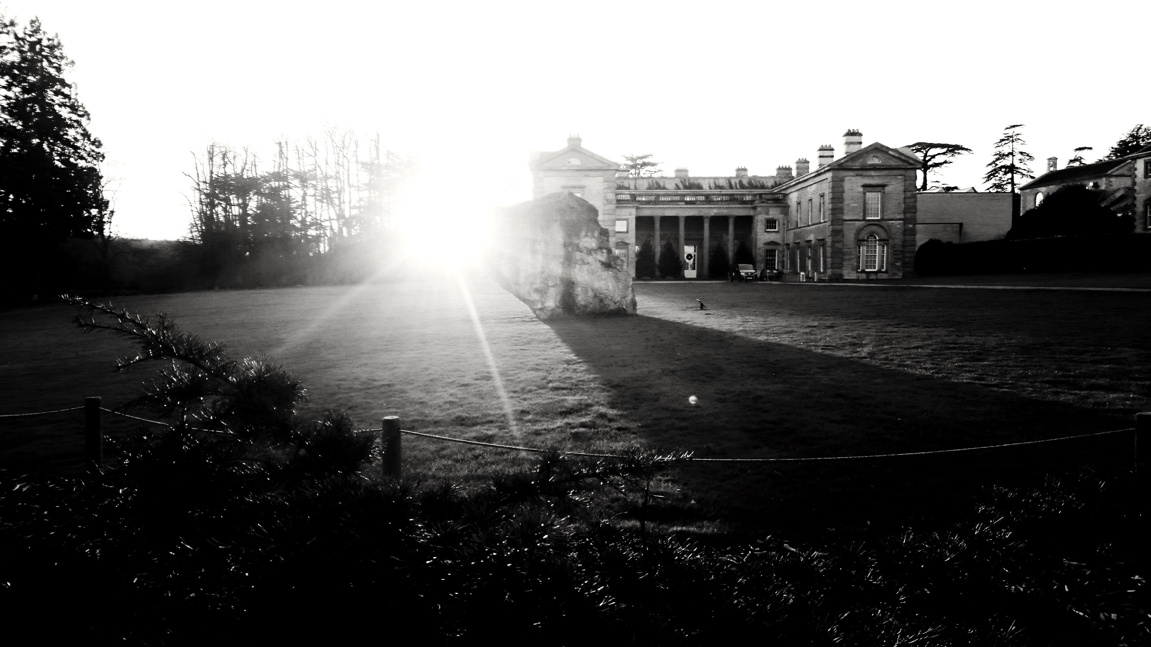 Sunset at Compton Verney
