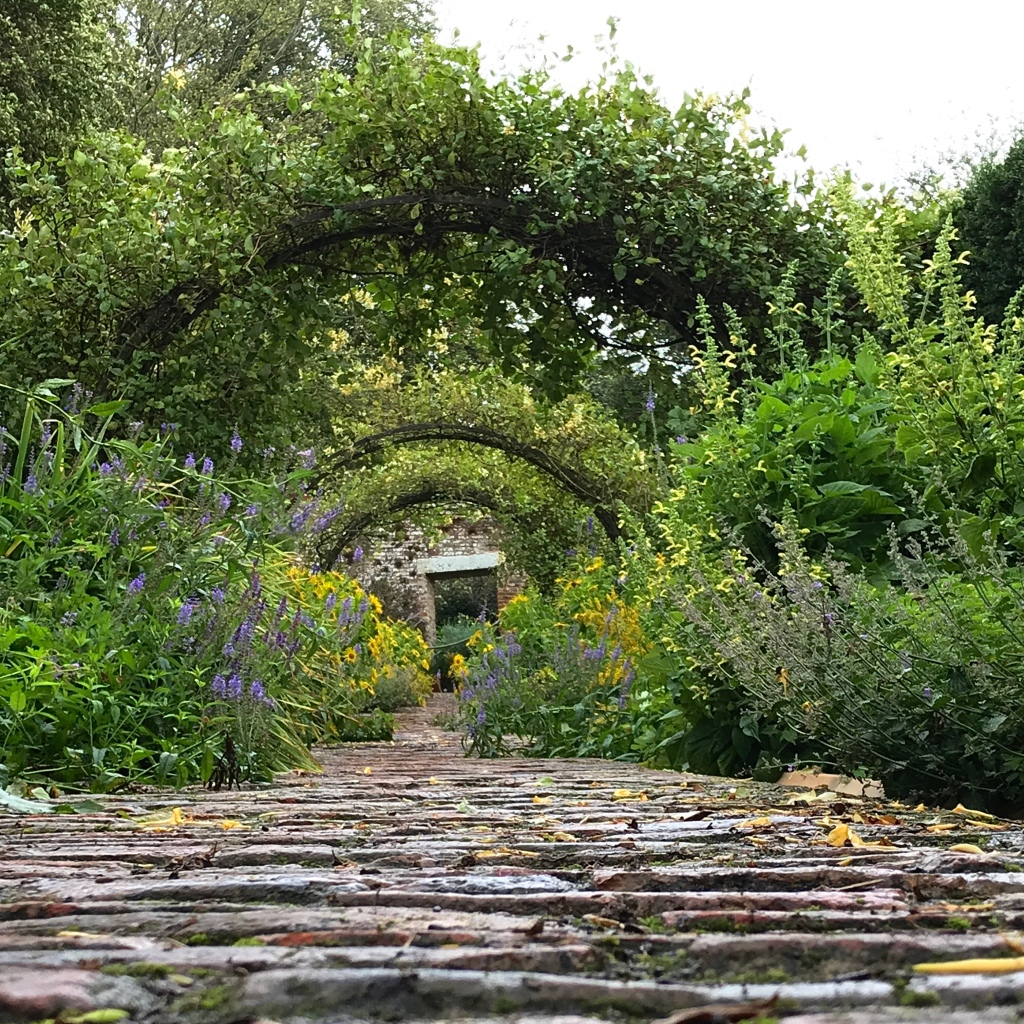 Up the garden path at Wallington Hall in Northumberland