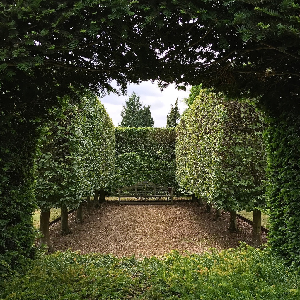 Hedges on stilts at Waterperry Gardens