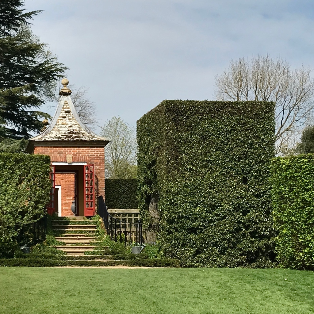 Architectural hedge work at Hidcote Manor in Gloucestershire