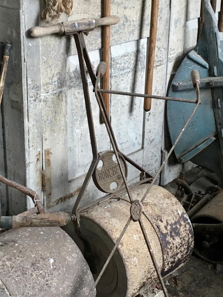 Photo of an antique garden roller At Calke Abbey